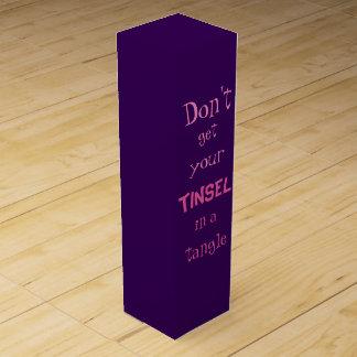 Tangled Tinsel Wine Gift Box