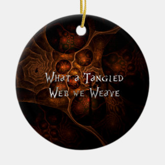 Tangled Web Ceramic Ornament