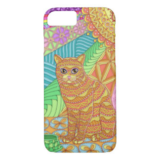 Tangled Yellow Tabby iPhone 7 Barely There Case