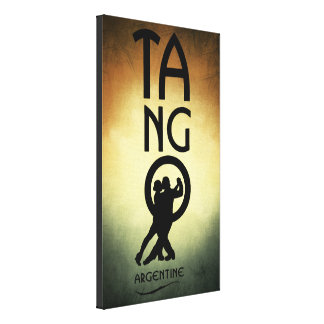 Tango Argentine Dancers Canvas Art