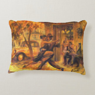 Tango AT night in Buenos Aires Decorative Cushion
