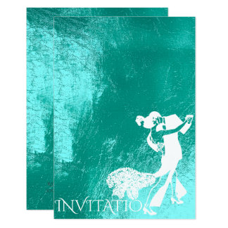 Tango Classic Dance Tiffany Aqua White Blue Card