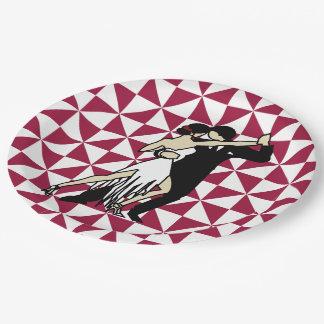 Tango Dancers 9 Inch Paper Plate