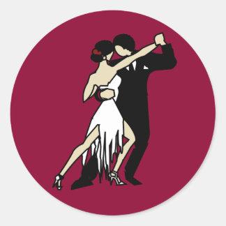 Tango Dancers Classic Round Sticker