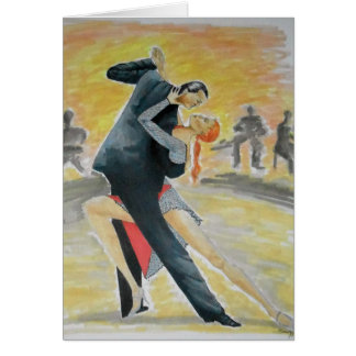 Tango Dancers Greeting Card -- Original Art