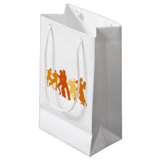 Tango Dancers Illustration Small Gift Bag