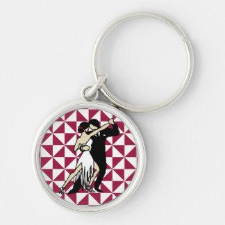 Tango Dancers Key Ring