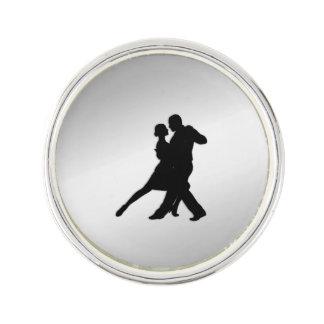 Tango Dancers Silhouette Lapel Pin