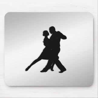 Tango Dancers Silhouette Mouse Pad