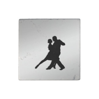 Tango Dancers Silhouette Stone Magnet