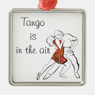 Tango is the Air Metal Ornament