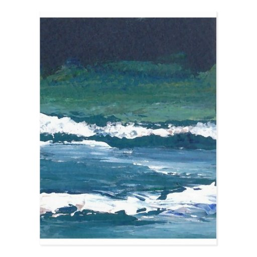Tango of the Sea Ocean Waves Beach Decor Postcards