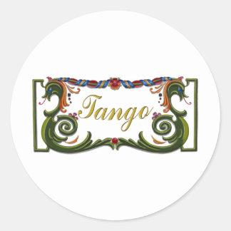 Tango Original design! Classic Round Sticker