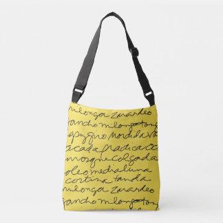 Tango Script Cross-Body Shoe Bag