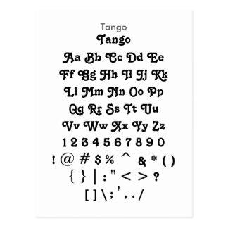 Tango - Zazzle Font Sample Sheet Postcard