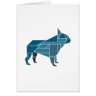 Tangram Frenchie, Blue Card