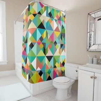 tangram geo multi shower curtain
