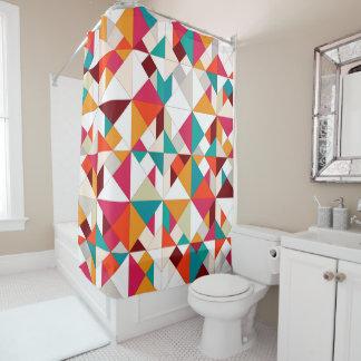 tangram geo shower curtain