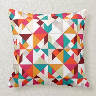 tangram geo throw pillow