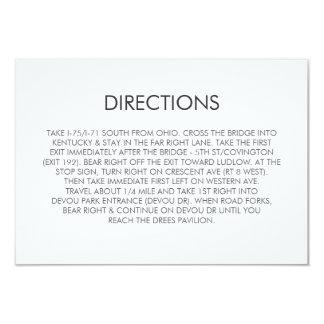 Tangram Heart Wedding Directions Card
