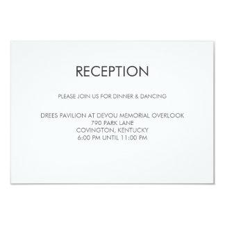 Tangram Heart Wedding Reception Card