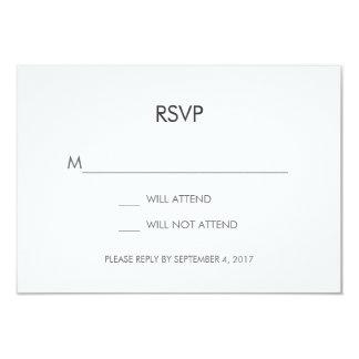 Tangram Heart Wedding RSVP Card