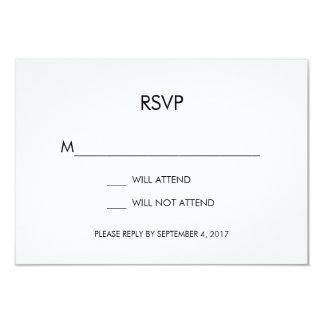 Tangram Heart Wedding RSVP Card Black Gold Silver