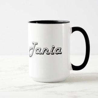 Tania Classic Retro Name Design Mug