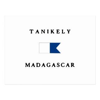Tanikely Madagascar Alpha Dive Flag Postcards