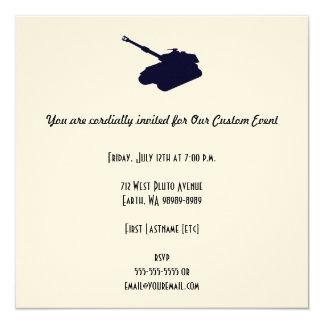 Tank 13 Cm X 13 Cm Square Invitation Card