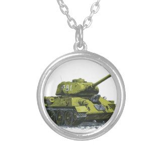 Tank Apg Russian Tank Silver Plated Necklace