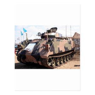 Tank: armored military vehicle postcard