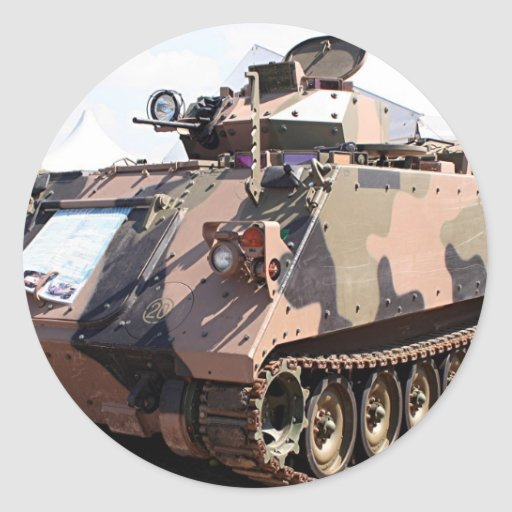 Tank: armored military vehicle stickers