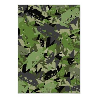 Tank Army Camouflage RSVP Card 9 Cm X 13 Cm Invitation Card