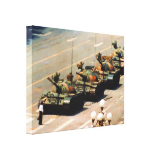 Tank Man Wrapped Canvas