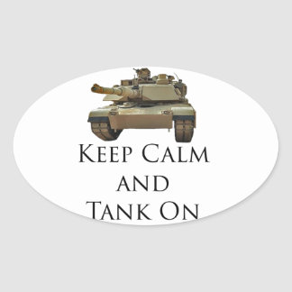 Tank ON Oval Sticker