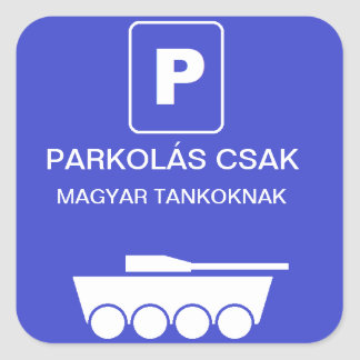 Tank parking square stickers
