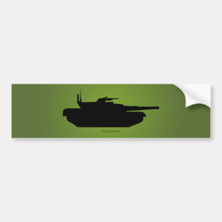Tank Silhouette Bumper Sticker