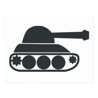 Tank Silhouette Post Cards