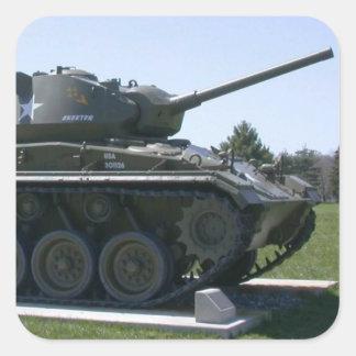 Tank Square Sticker