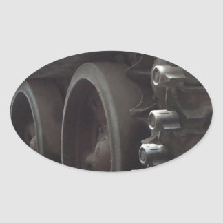 Tank Time Oval Sticker