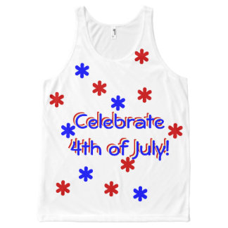 Tank Top - Celebrate 4th of July All-Over Print Tank Top
