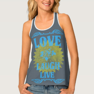 Tank Top Original LetterPress Love Laugh Live