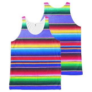 Tank top, unisex,striped serape,Mexican blanket