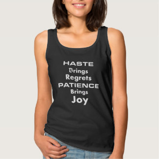 Tank Top With Sayings Of Patence