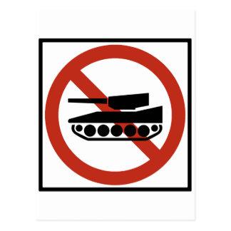 Tank Traffic Prohibited Highway Sign Postcard