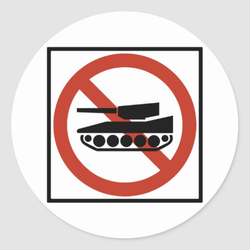 Tank Traffic Prohibited Highway Sign Sticker