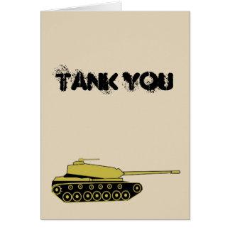 Tank You Card
