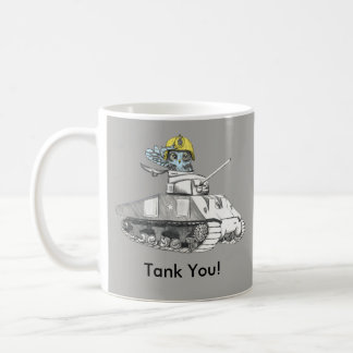 Tank you!  Tank Battle owl is very Thankful. Coffee Mug