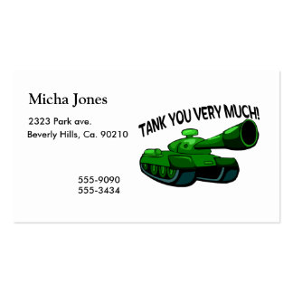 Tank You Very Much Pack Of Standard Business Cards